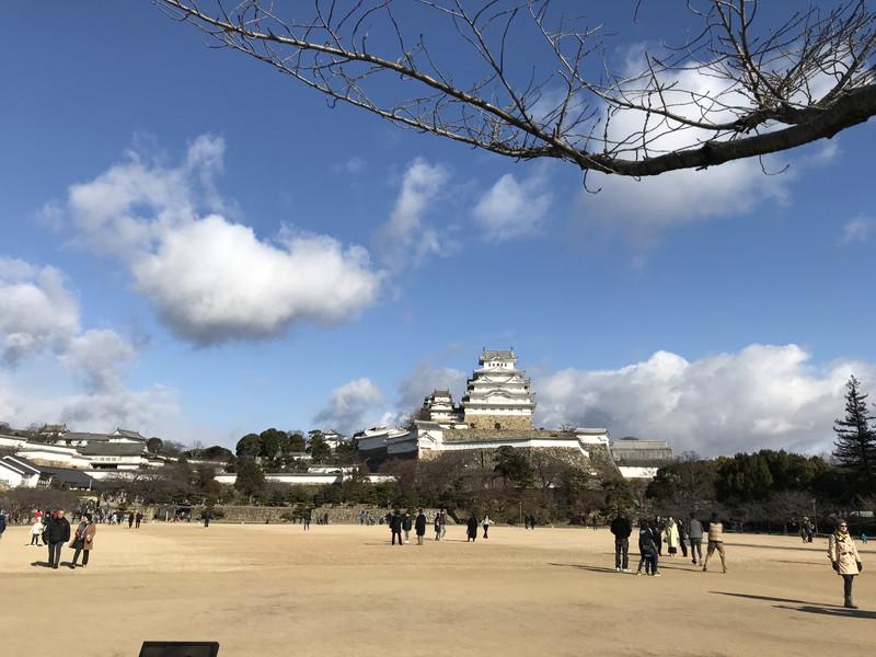 入り口から見た姫路城